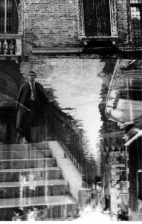 carnet,photo,souvenir,années 80,voyage,venise,italie,vénétie,photographie,superposition,photo noir et blanc,christian cottet-emard,image,mémoire,promenade,blog littéraire de christian cottet-emard,carnet vénitien,promenade vénitienne