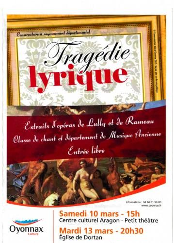 tragédie lyrique,musique,conservatoire d'oyonnax,chant,dortan,église,lully,rameau,musique ancienne,voix,concert,audition,ain,rhône-alpes