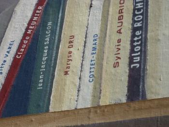 fresque murale lyon,littérature,fresque littéraire lyon,blog littéraire de christian cottet-emard,livres,bibliothèque de la cité,médiathèque,christian cottet-emard,lyon,promenade lyonnaise,rhône-alpes auvergne,france,photo